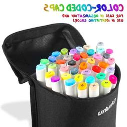 Ohuhu 40 Colors Dual Tips Art Sketch Twin Marker Pens for Pa