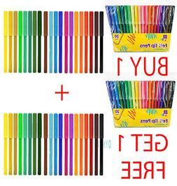 40 pack felt tip pens fibre tipped