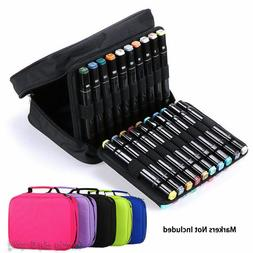 40 Slots Marker Pen Storage Case Carrying Bag Holder Organiz