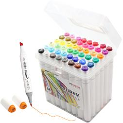 48 Color Alcohol Marker Pen Double Tipped Board & Fine Perma