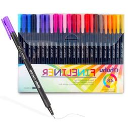 Ohuhu 48 Color Fineliner Pens Set 0.4mm Ultra Fine Point Mar