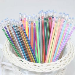 48 Colors/Set Gel Pen Refills Glitter Coloring Drawing Craft