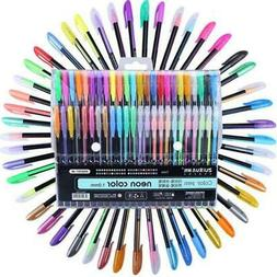 48pcs Colors Glitter Sketch Drawing Color Pen Markers Gel Pe