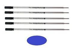 5 - Ballpoint Pen Refills for S.T. DUPONT Pens - Blue Medium