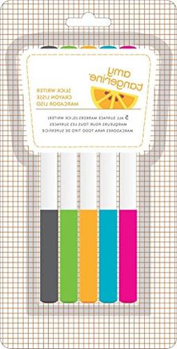 American Crafts 5-Pack Amy Tangerine Yes Please Slick Writer