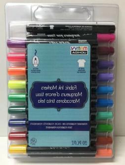 Uchida 520-20A Marvy Bold Tip 20 Color Fabric Marker Set