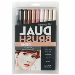 56170 Dual Brush Pen Art Markers Portrait 10 Pack, Blendable