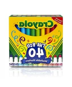 Crayola 58-7858 40 ct Broad Line Ultra-Clean Washable Marker