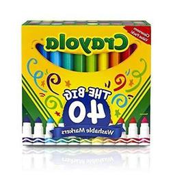 Crayola 587858 Ultra-Clean Washable Broad Line Markers, 40-C