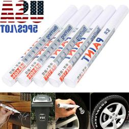5PC White Paint Pen Marker Waterproof Permanent Car Tire Let