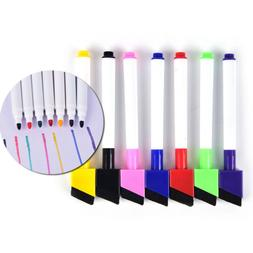 5Pcs/Set Whiteboard Erasable Dry Erase Marker Pen With Erase