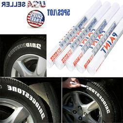 5X Tire Permanent WHITE Paint Markers Pen Lettering Rubber W