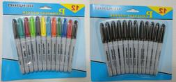 60 Black or Colored Fine Point Permanent Markers f School Of