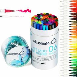 60 Colors Pens /Set Watercolor Drawing Painting Brush Artist