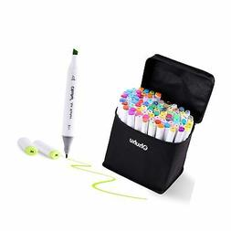 Ohuhu 60 Colors Dual Tips Permanent Marker Pens Art Markers
