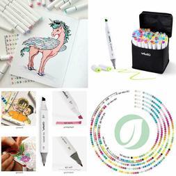 Ohuhu 60 Colors Dual Tips Permanent Marker Pens Art Markers
