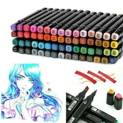 60 Colors Marker Pen Set Dual Tips Art Markers for Kids Draw