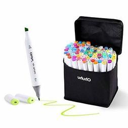 Ohuhu 60 Colours Dual Tips Permanent Marker Pens Art Markers