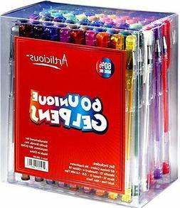 60 Gel Pens Set Pen Glitter Color Art Coloring Book Colors N
