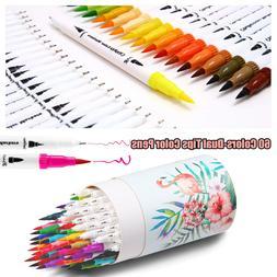 60PCs/Set Soft Brush Pen Sketch Markers Watercolor Pen Set G