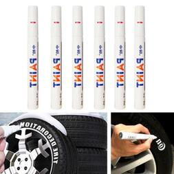6PCS Waterproof Marker Pen Permanent Paint Car Tyre Tire Tre