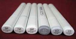 Copic Sketch Dual-Tip Markers - Cool & Neutral Grays,C1,C3,