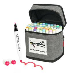Bianyo 72 Colors Dual Tip sketch  Markers pastel Set  with T
