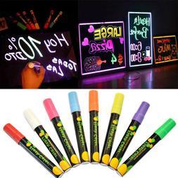 8 Color Fluorescent Highlighter Wet Liquid Chalk Neon Marker