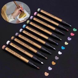8 colors set paint marker pens metallic