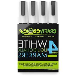 8 Crafty Croc Liquid Chalk Markers WHITE