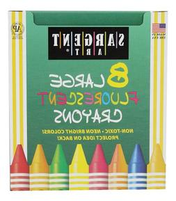 Sargent Art 22-0551 8-Large Crayons, Tuck Box and Fluorescen