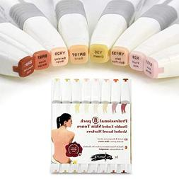 Colorona 8 Skin Tone Alcohol Markers Professional Art Set -