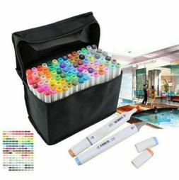 80/Colors Artist Dual Head Sketch Copic Markers Set For Scho
