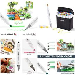 Ohuhu 80 Colors Dual Tips Permanent Marker Pens Art Markers