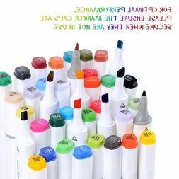 Ohuhu 80/40 PCS Dual Tip Brush Twin Marker Pens for Adult Co