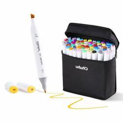 80 Set Color Ohuhu Art Dual Tip Sketch Pen Art Sketch Twin M