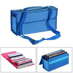 80 Slots Marker Pen Storage Case Carrying Bag Holder Organiz