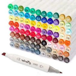 Shuttle Art 88 Colors Dual Tip Alcohol Based Art Markers, 88