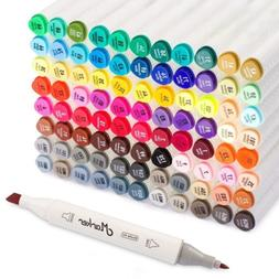 Shuttle Art 88 Colors Dual Tip Art Markers,Permanent Marker