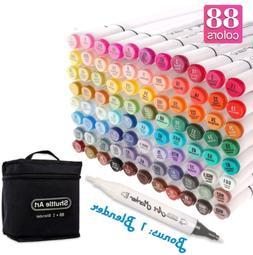 Shuttle Art 89 Colours Dual Tip Art Markers, 88 Colours Plus