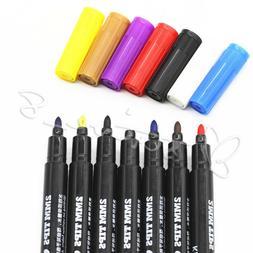 8Colors Permanent Fabric Paint Marker T-Shirt Pen For Clothe