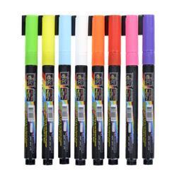 8pcs 3MM Fluorescent Highlighter Wet Liquid Chalk  Neon Mark