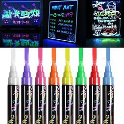 8PCS Fluorescent Neon Marker Pen Highlighter Wet Liquid Chal