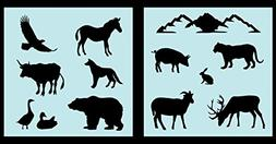 Auto Vynamics - STENCIL-ANIMALS-NAMERICASET01-10 - Detailed