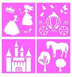 Auto Vynamics - STENCIL-PRINCESSSET01-10 - Detailed Fairy Ta