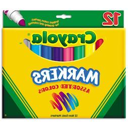 Binney  Smith Crayola Non-Washable Markers, Broad Line, Asso