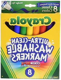 Binney & Smith Crayola Washable Wedge Tip Markers, Assorted