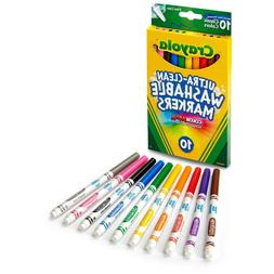 Crayola 10 Ct Ultra-Clean Fine Line Washable Markers, Color