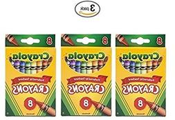 Crayola Crayons,8 Count  , Pack of 3