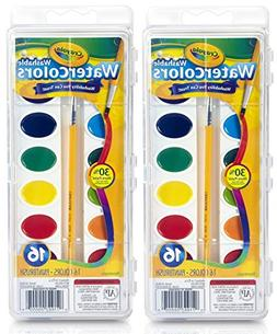Crayola Washable Watercolors, 16 Count  Total 32 Count